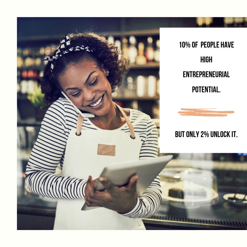 black woman being entrepreneurial